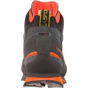 La Sportiva Boulder X Mid Zapatillas Hombre, carbon/flame